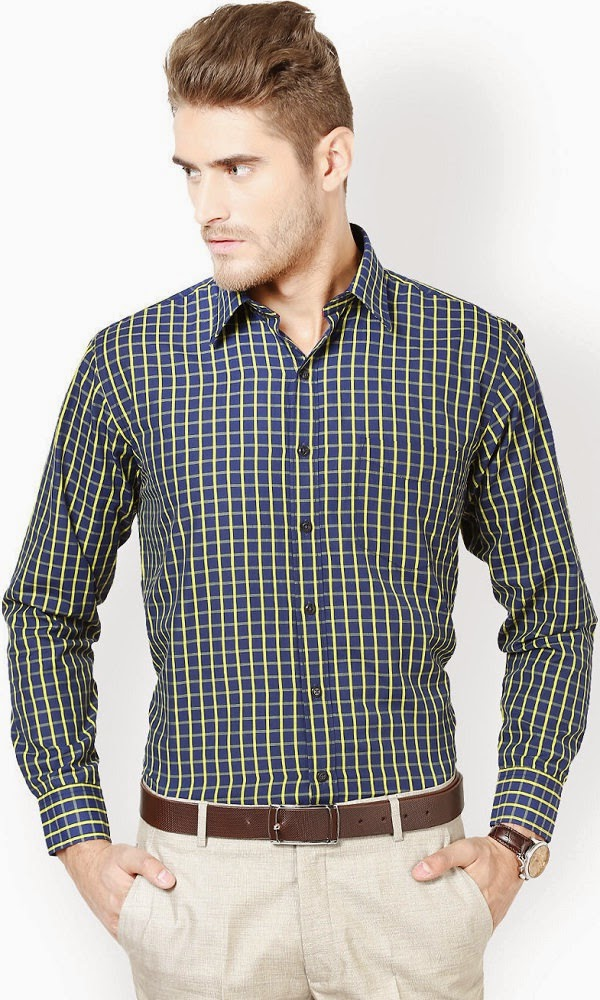 Richlook Checked Formal check Shirt and pant combination for men