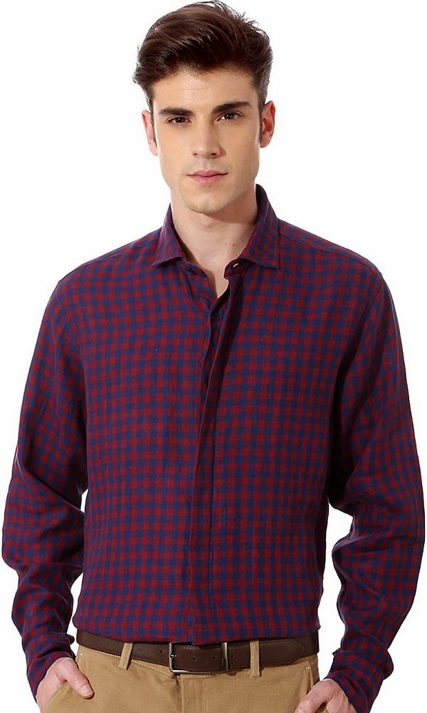 Louis Philippe Checked Shirt