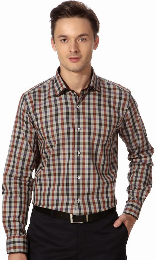 Van Heusen Multi Checkered formal shirt and pant color combinations for men