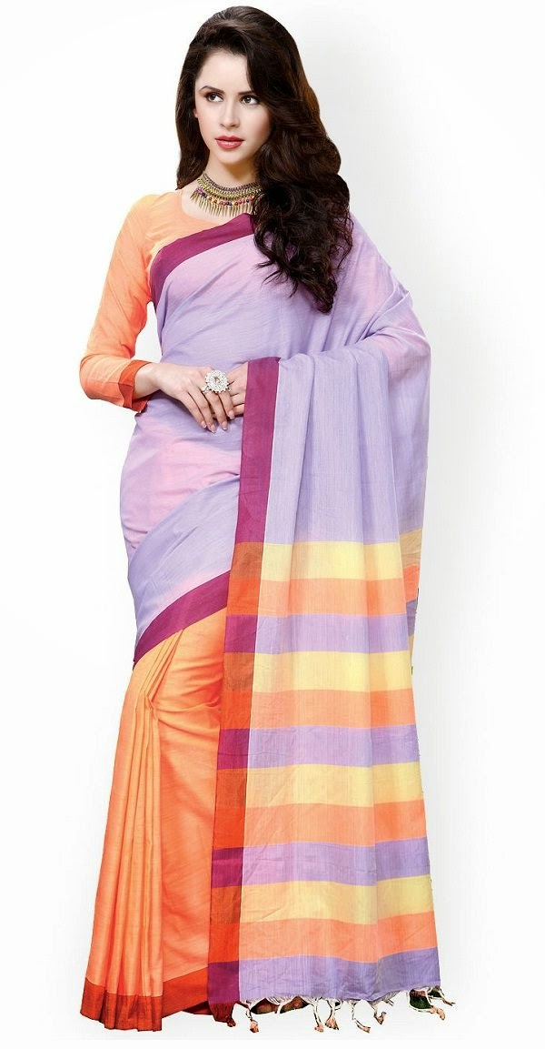 Traditional summer cotton saree online shopping