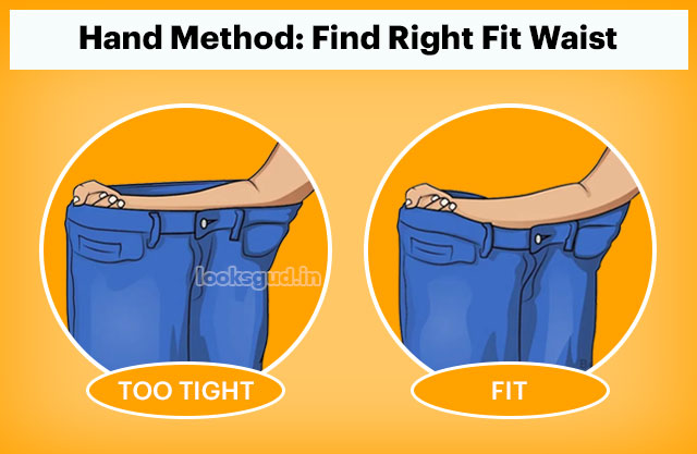 How to measure the perfect pair of jeans without trial, jeans waist fit hack