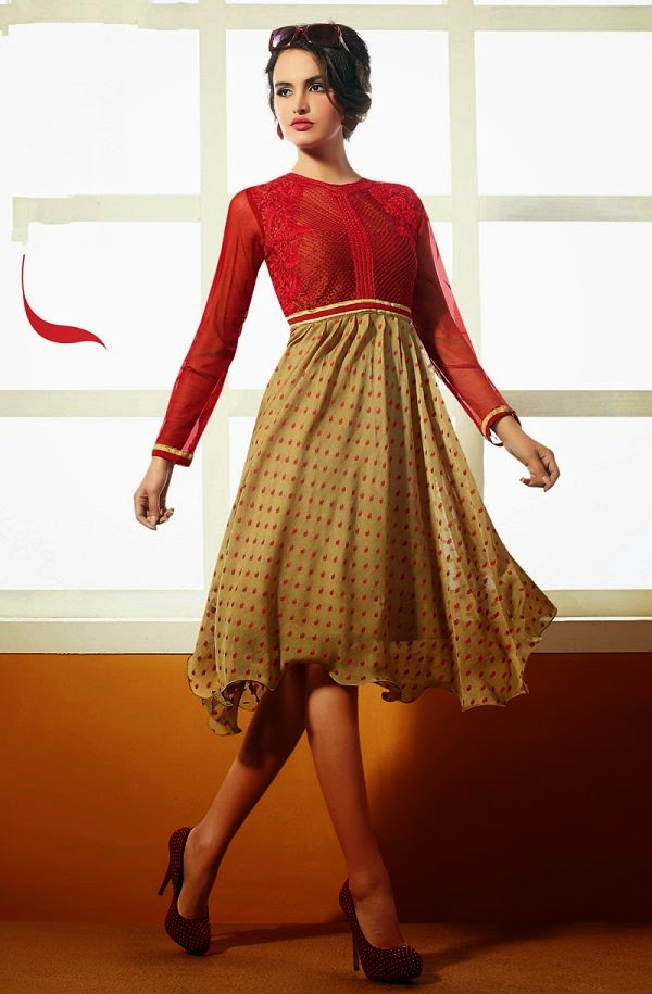 Stunning Deep Red Kurti for Dating