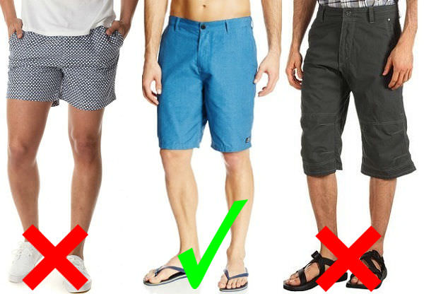 what is the right length for men shorts