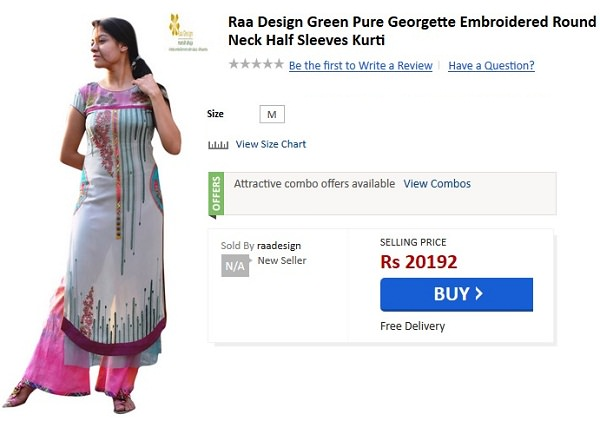 most overpriced fashion items india
