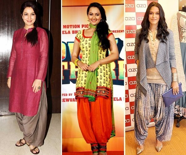bollywood divas in patiala salwar outfit