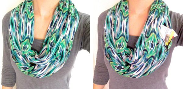 Secret Stash Scarf to carry your belongings