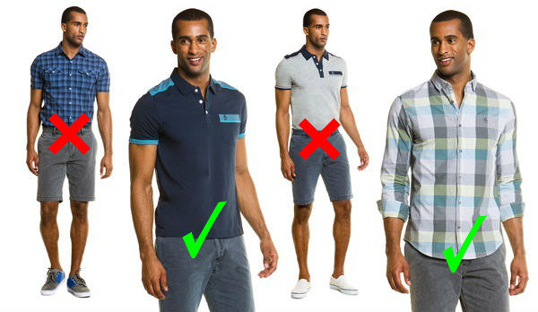 casual shirts and polos must be worn untucked