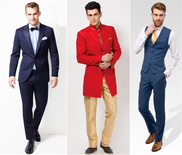 what to wear as bottom-wear under suit and shewarni in wedding for Slim body type men