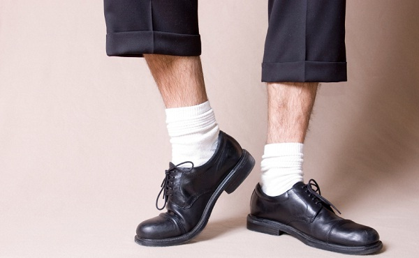 white socks with formal outfit