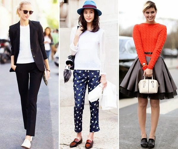 stylish outfits for women with loafers