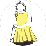A-line kurti clipart drawing