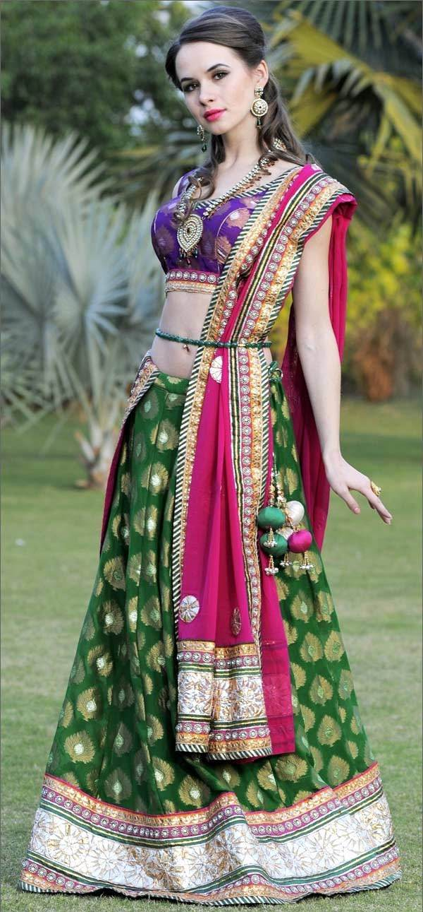 belted dupatta setting styles, how to tie a dupatta for a lehenga