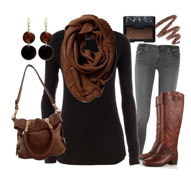 Cool black and brown matching outfits lookbook