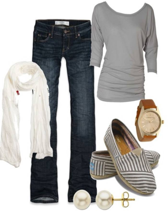 Candace Cameron Bure, striped Toms, Plaid Shirts and Flannels
