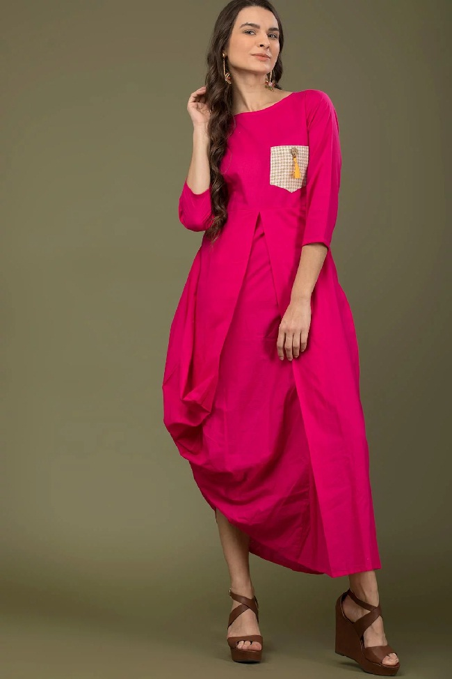 latest designs of cowl kurti