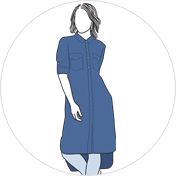 Denim kurti clipart drawing