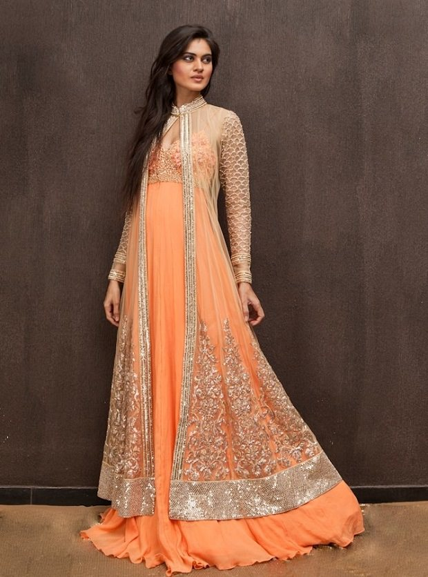 Jacket Gown for Indian wedding