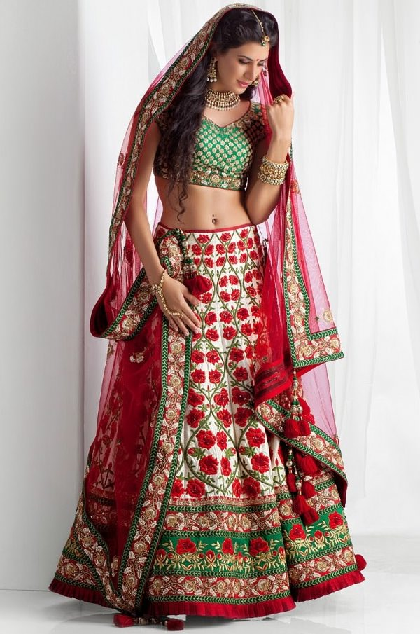 dupatta wearing styles, different styles of draping dupatta with lehenga