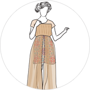 Overlay kurti clipart drawing
