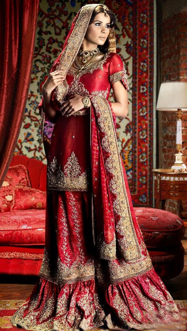 pakistani wedding dupatta styles, how to wear dupatta for lehenga choli