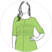 Pintuck kurti clipart drawing
