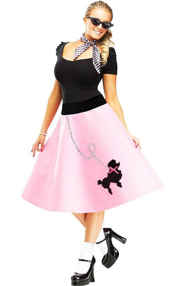 poodle-skirt, types of short skirts, flared skirts, skirts patterns images