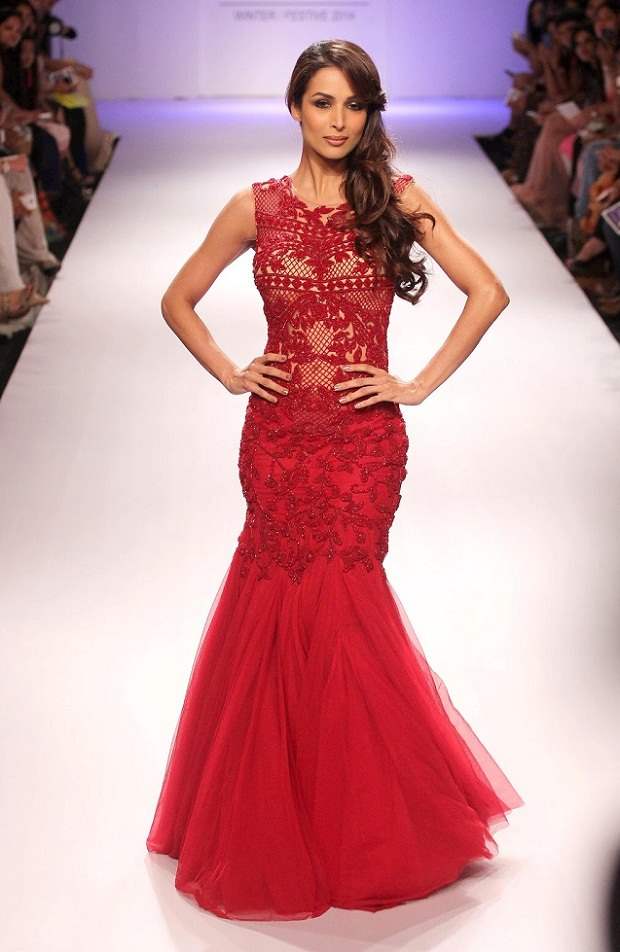 mermaid gown, Red fish-cut gown