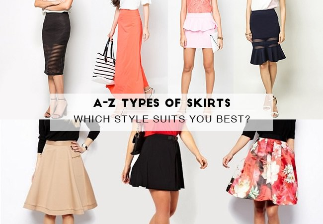 different types of skirt designs for your body shape
