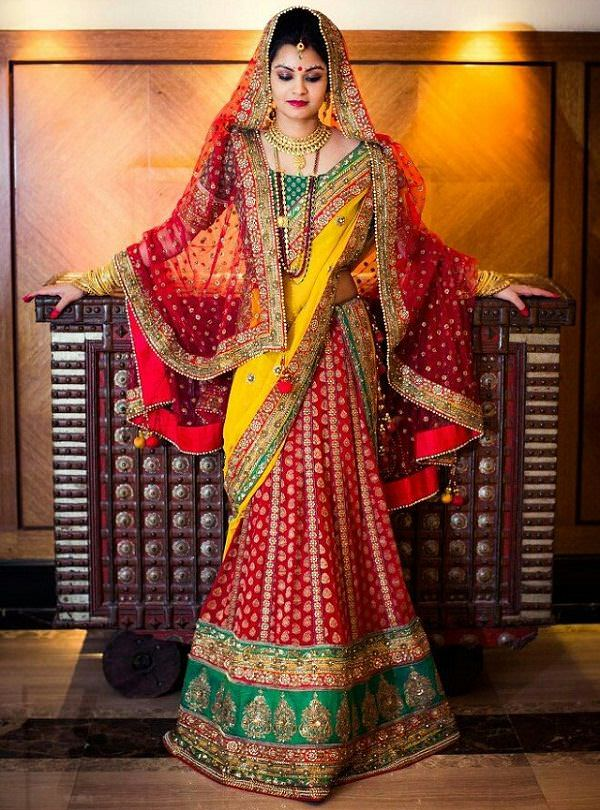 dupatta draping styles for brides