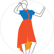Tail Cut Kurti clipart Drawing