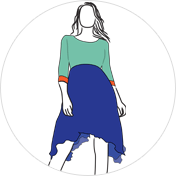 Trail Cut kurti clipart drawing