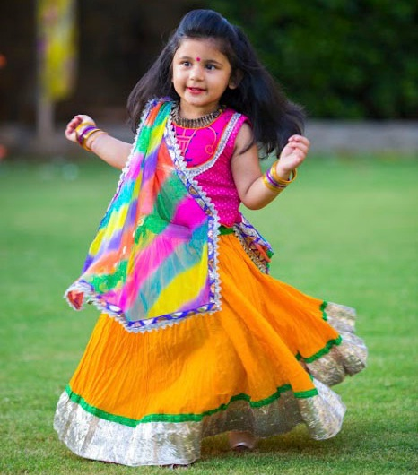 navratri chaniya choli designs for kids, kids indian lehenga