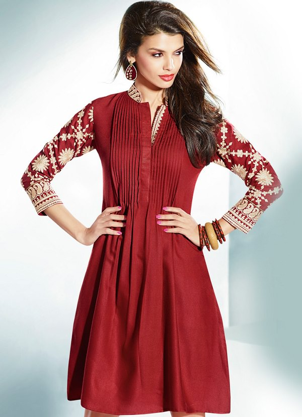 Stand Collar Designs For Kurti : Different types of necklines to try in your kurtis looksgud