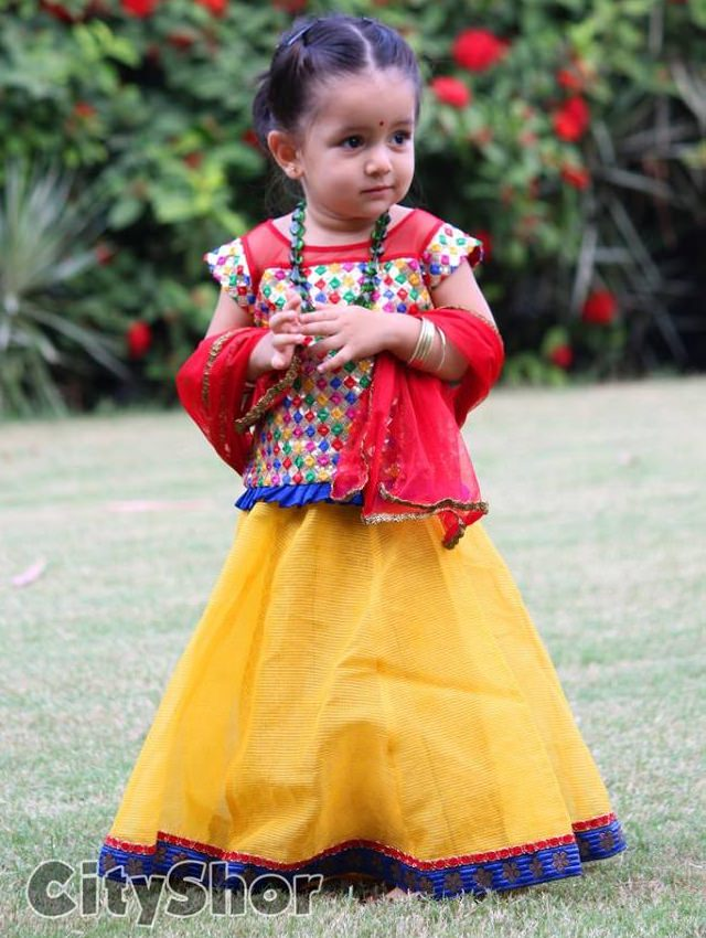 navratri chaniya choli for kids, children's lehenga