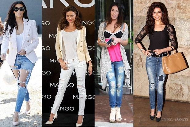 10 Ripped Jeans Style trends created by Celebrities - LooksGud.in