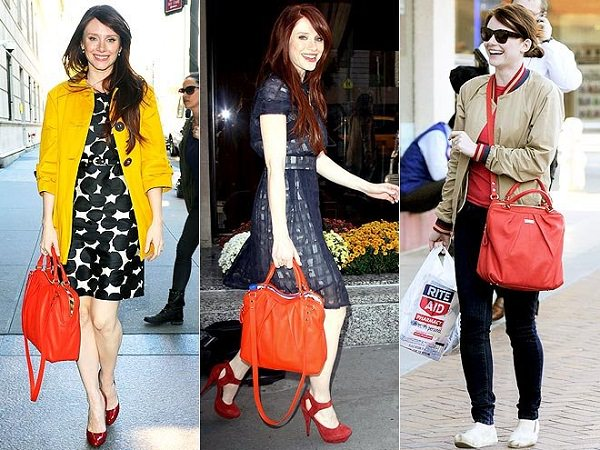 select colours of bags according to your body shape and dresses