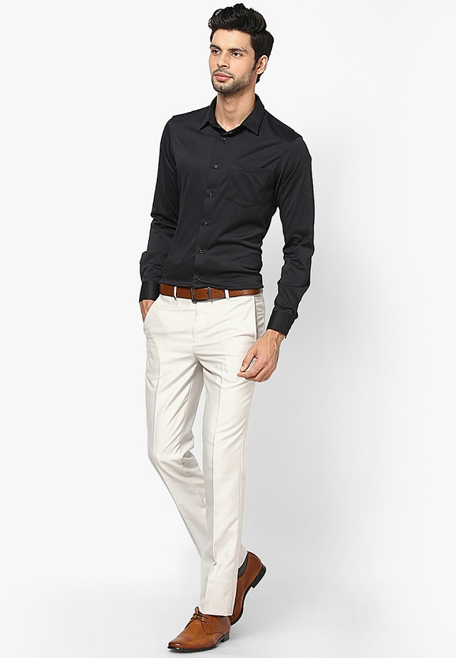 black shirt with white pant, Best color combination of shirt pant, formal pants and shirts combination