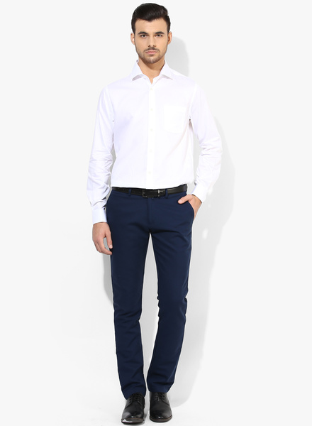 blue pant with white shirt, White shirt with evergreen blue color pant, pant shirt color combination