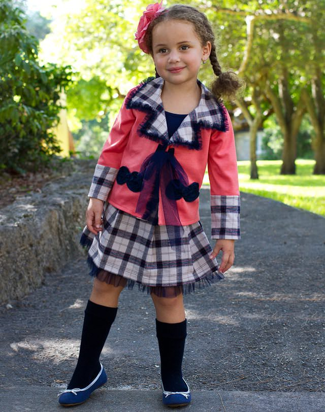checked-skirt, skirt set for girls