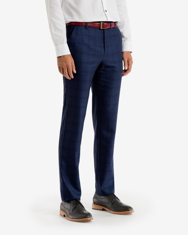 checked trouser with plain formal shirt, Enhance your look with plain shirt with checked formal trouser