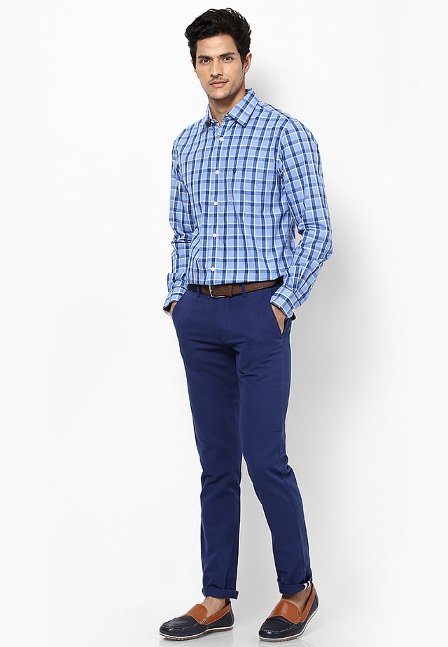 checks shirt with matching pant, A good color combination of checks shirt with matching color of checks'pant