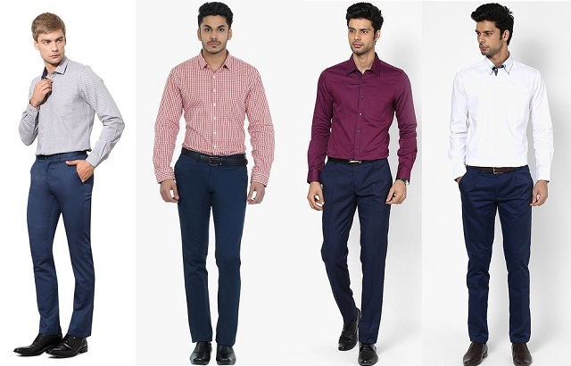 evergreen navy blue pant, What match with navy blue pants and light or dark color shirt