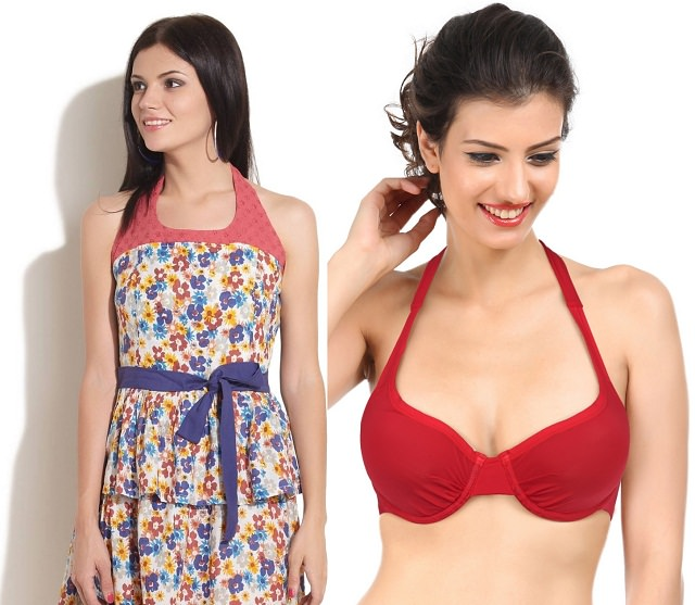 Halter bra is perfect for Halter Neck Tunic, how to hide bra straps when wearing a tank top