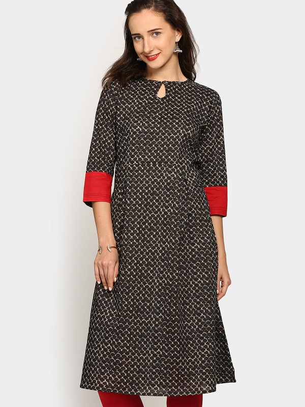 Stand Collar Kurti Designs : Different types of necklines to try in your kurtis