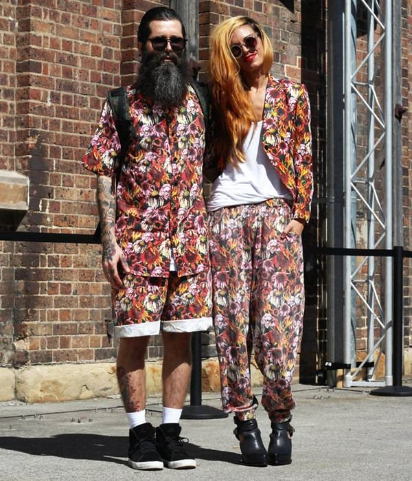 matching-printed-couple-outfit, couple printed outfit