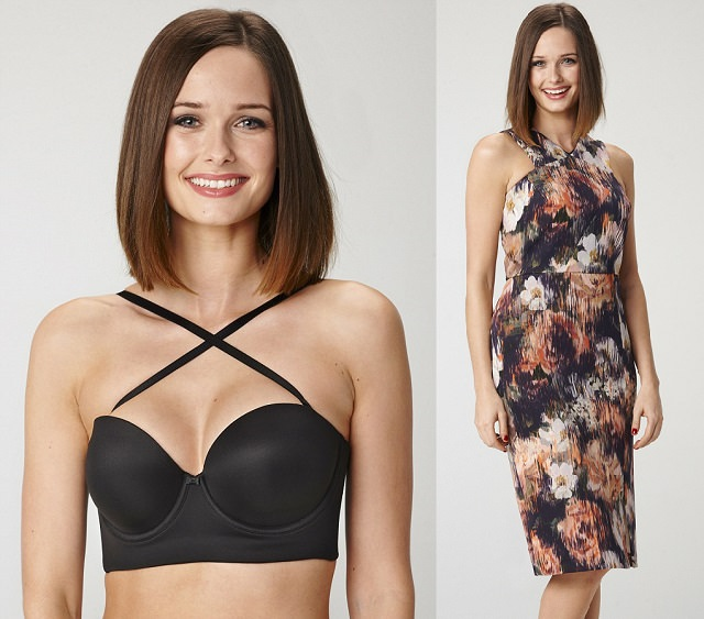 criss cross bra for dresses with crisscross necklines, how to hide bra straps with racerback tanks