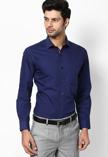 navy blue shirt with gray trouser, Dark blue color shirt go with graypant,the great contrast of colors