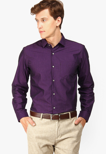 Purple shirt with beige pant, Get a smart look with purple shirt and beige pant