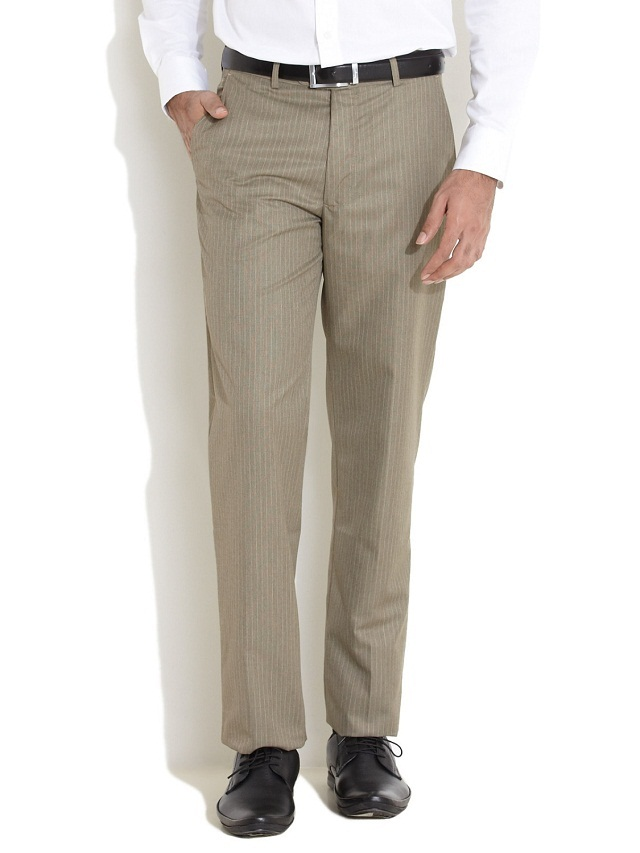 striped pant with plain shirt, Evergreen white good with contrast pant