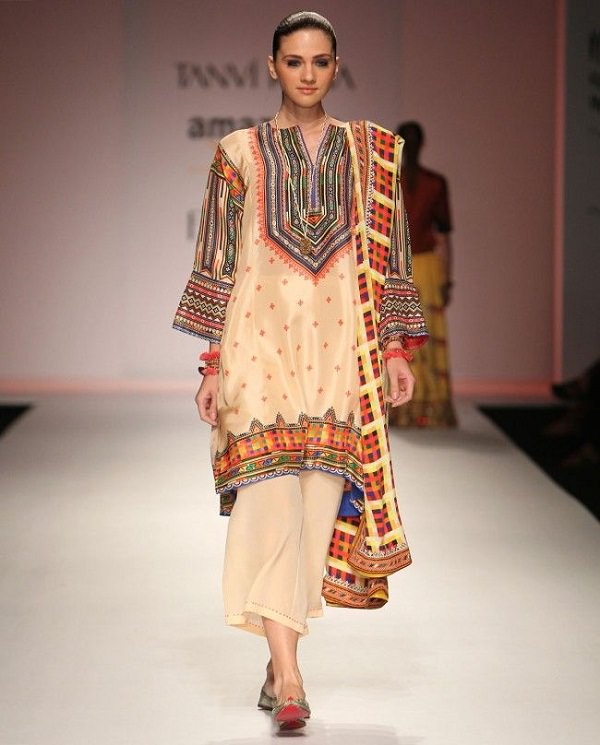 ankle length palazzo with ethnic